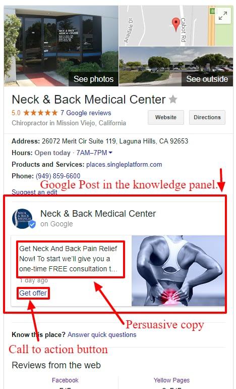 Google Post Knowledge Panel