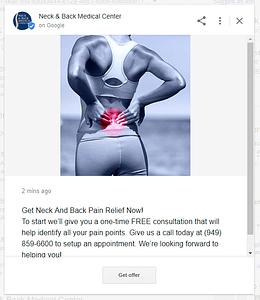 Chiropractor Marketing Google Posts