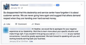 Responding to a negative review