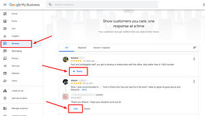 Reply to Google reviews