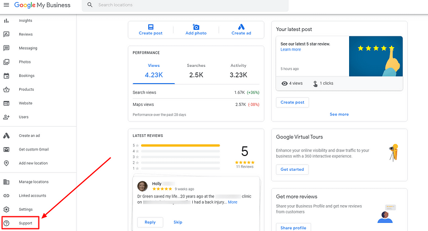 Google reviews for local businesses support